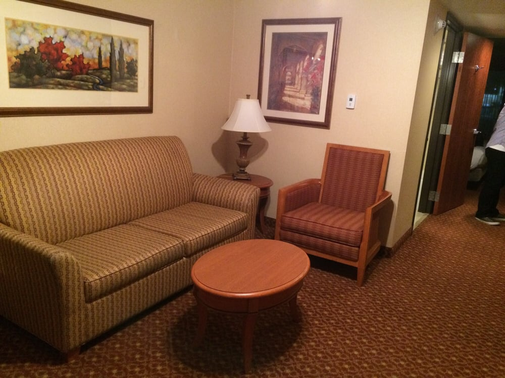 King bed room sitting area with pull out sofa yelp - Hilton garden inn las vegas henderson ...