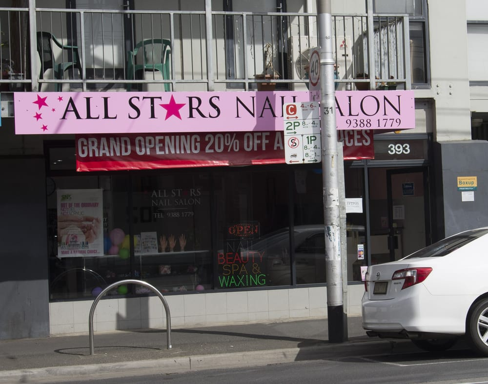 All stars nail salon nail salons 393 lygon st for 1662 salon east reviews