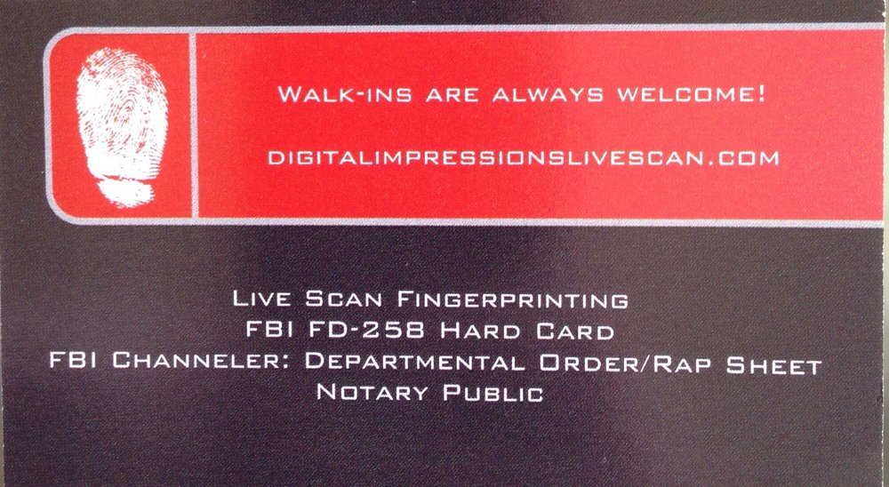 Digital Impressions Live Scan & Notary: 405 E Branch St, Arroyo Grande, CA