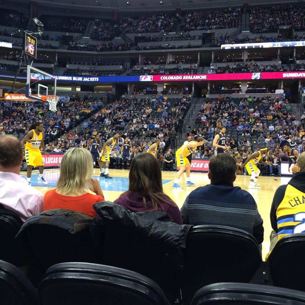 Denver Nuggets Court: Court Side