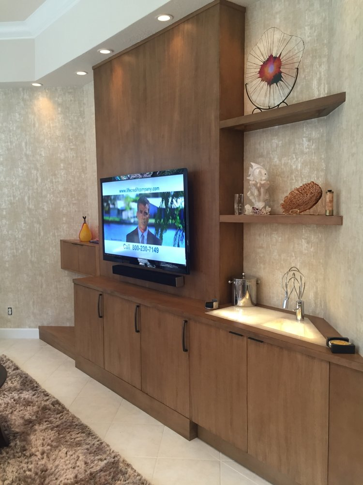 Custom Built Den Wall Unit. Completed January 2016. Designed and ...