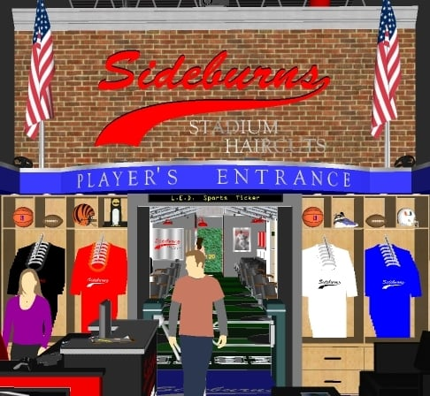 Sideburns Stadium Haircuts: 390 Diederich Blvd, Ashland, KY