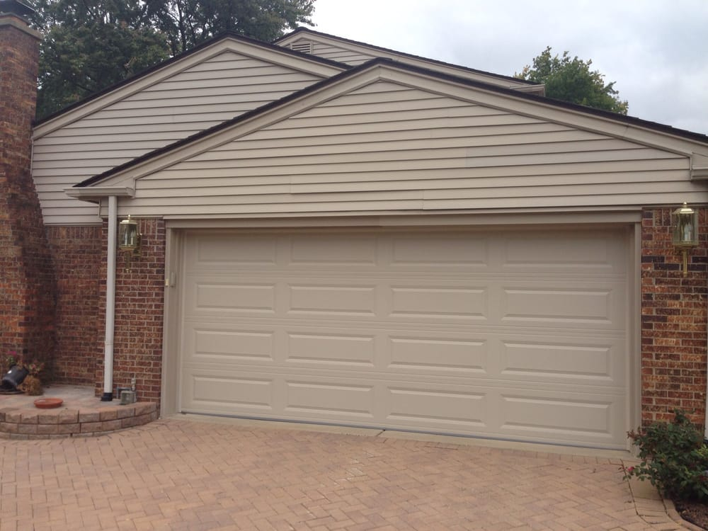 Photo of Premier Door Service - Brighton MI United States. 16u0027 x & 16u0027 x 7u0027 C.H.I. Garage Door - Model: 4283 - Color: Desert Tan ...