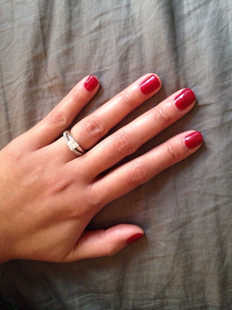 Spiced Berry gel nails by Judy... NYE nails... - Yelp