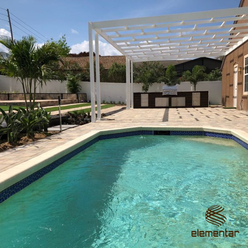 Pergola, Pool, Pavers, Turf Installation - Yelp on Elementar Outdoor Living id=42251