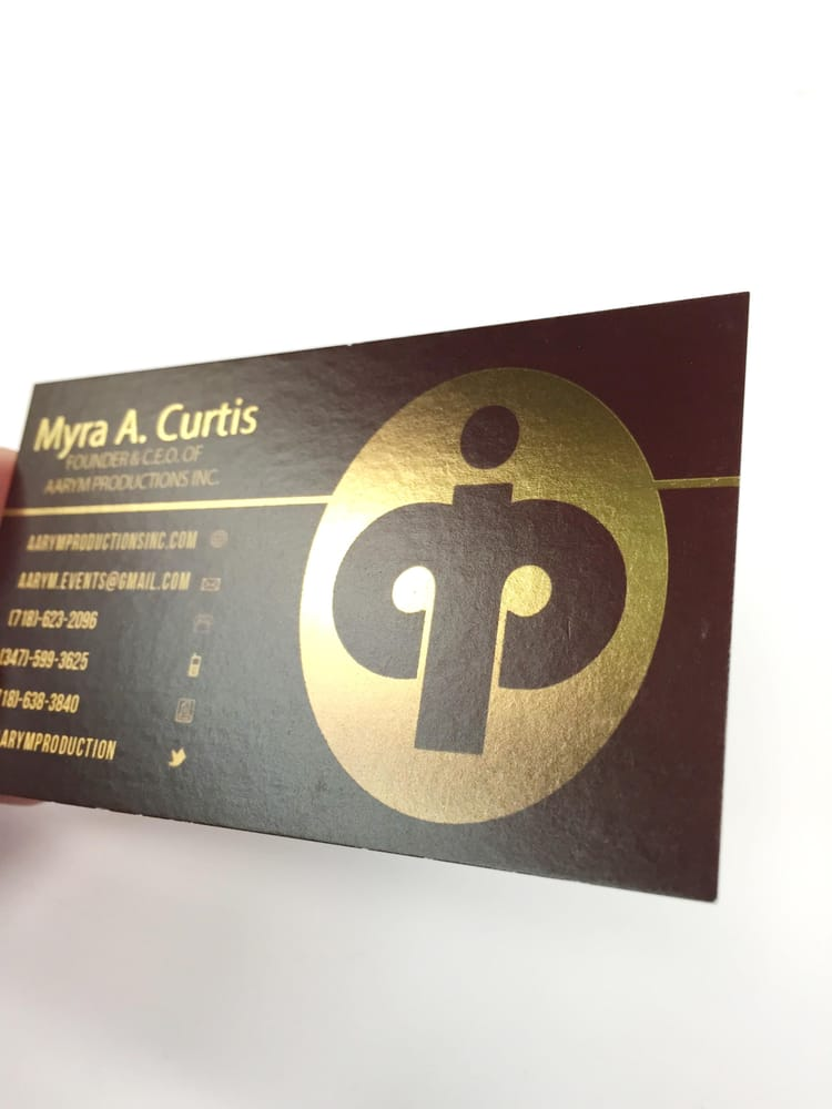 Business Cards printed with a Gold Akuafoil section. - Yelp