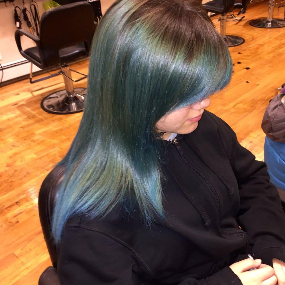 Ombre color yelp for A la mode salon brooklyn