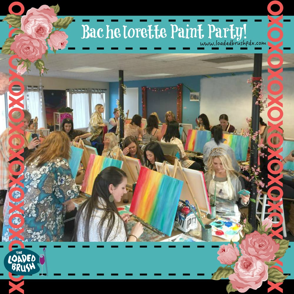 Private painting parties make unique and fun bachelorette for Private paint party