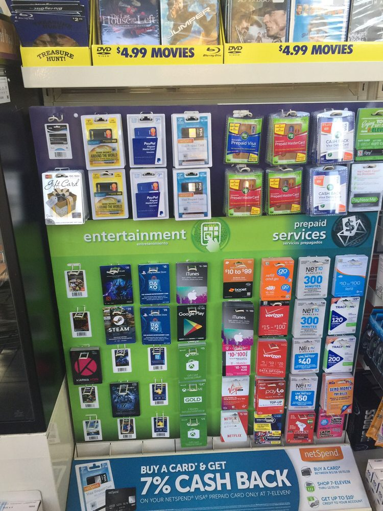 They sell gift cards including Apple iTunes, XBOX, PlayStation ...