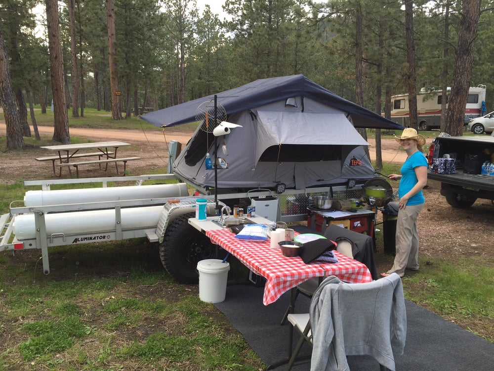 Photo of Tepui Tents - Soquel CA United States. Our Tepui on our & Our Tepui on our flatbed trailer set up! - Yelp