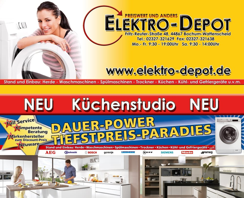 Elektro depot bochum appliances august bebel platz 15 Depot outlet bochum