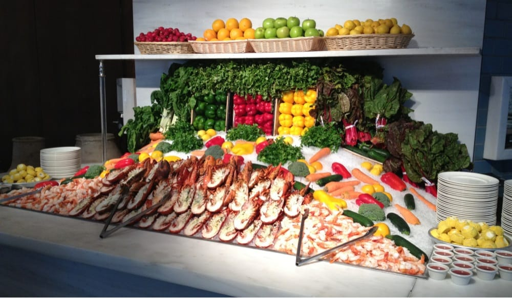 Brunch buffet seafood display yelp for Fish buffet near me
