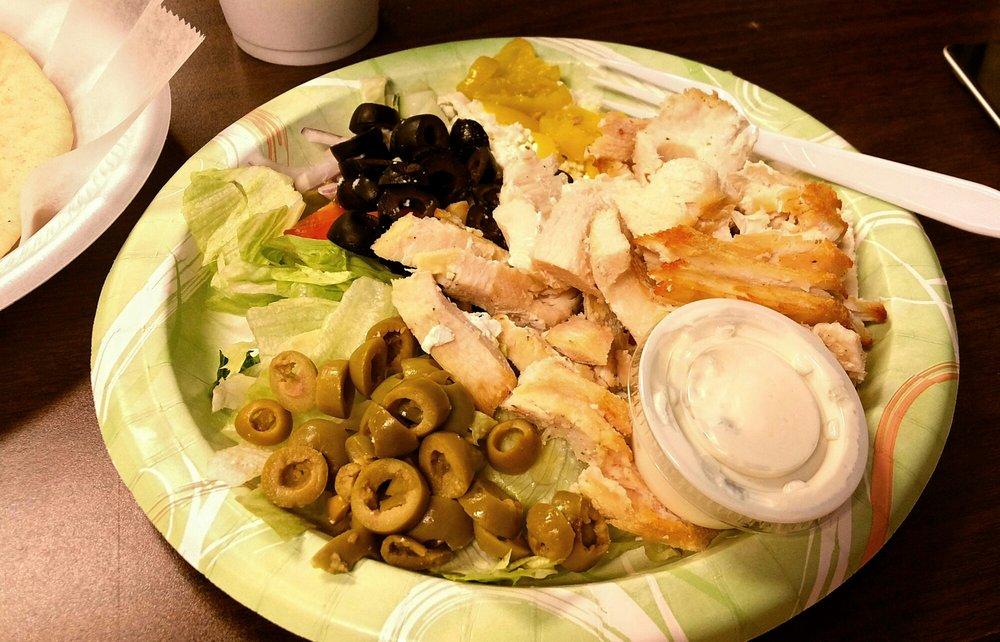 Food from Niko's Greek Restaurant