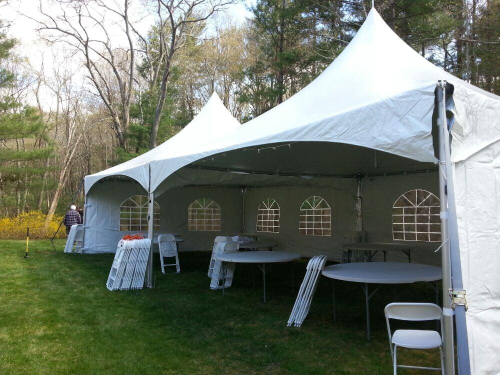 Backyard Tent Rental - Waltham - Party Equipment Rentals ...