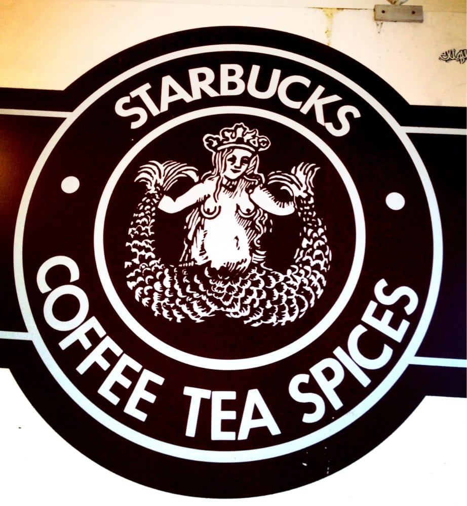 First starbucks original logo with the boobs still in place yelp photo of starbucks seattle wa united states first starbucks original logo with biocorpaavc Image collections