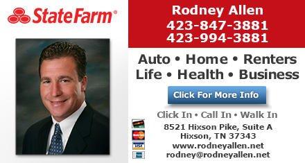 Rodney Allen - State Farm Insurance Agent: 8521 Hixson Pike, Hixson, TN