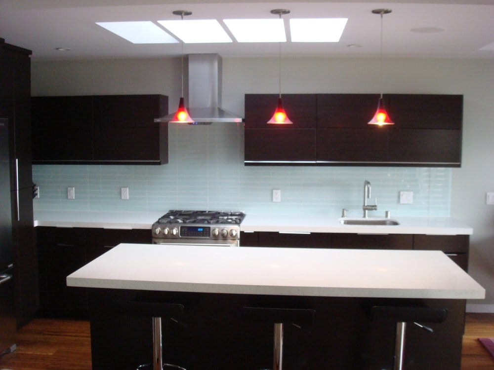 New kitchen with Ultracraft Thermofoil cabinets in wenge ...