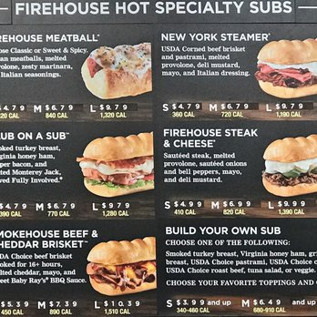 photograph regarding Firehouse Subs Printable Menu known as Subs Menu Selling prices 2017