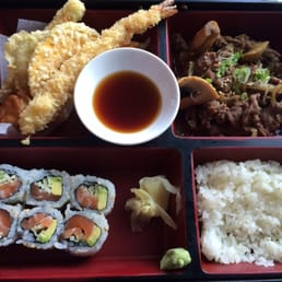Bada Sushi - Suffern, NY, United States. Bulgogi bento box with the Alaskan roll ( salmon, cucumber, and avocado) $11.95