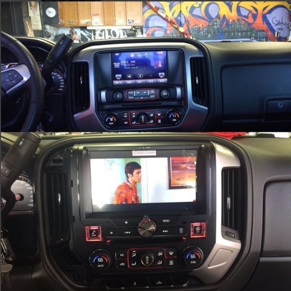 2015 Gmc Sierra Denali >> Alpine x110 SRA 10 inch screen on a 2015 GMC Sierra. We can take care of any audio/ video or ...