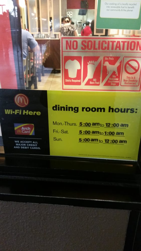 dining room hours - yelp