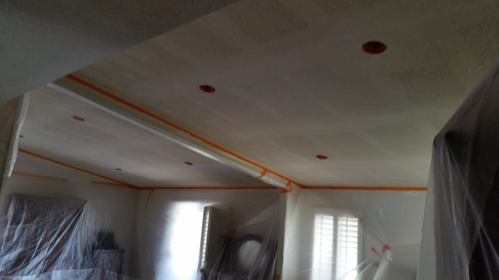 Ceilings After Acoustic Removal And Texture Ready For