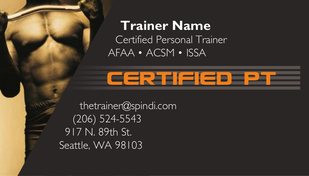 personal training business cards - Yelp