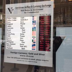 Vancouver Bullion Currency Exchange