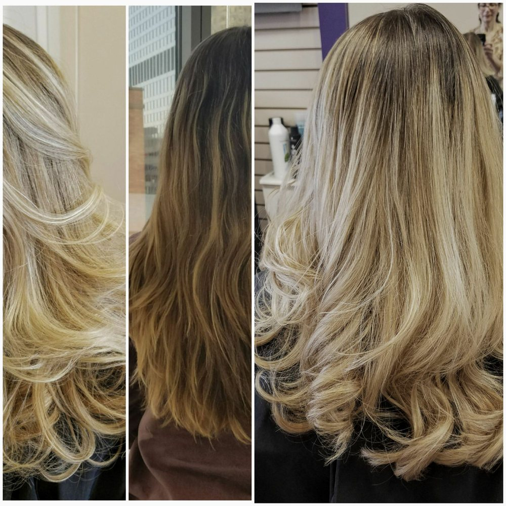 Before And After Ombre Balayage And Haircut Style By Fariba