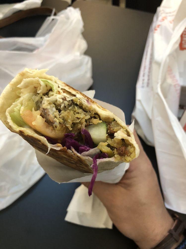 Food from Yum Yum Shawarma Falafel Wings