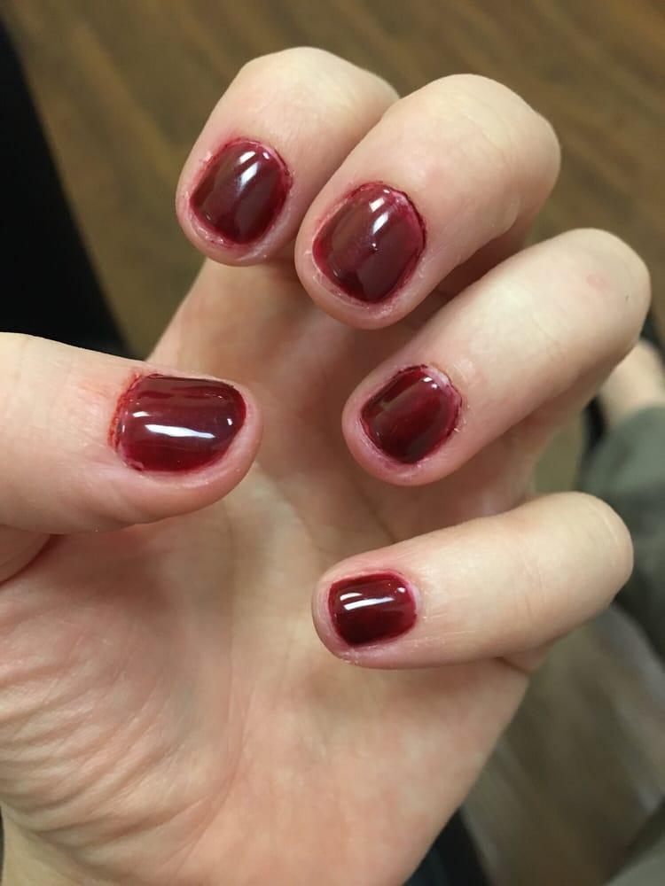 Really bad shellac manicure - Yelp