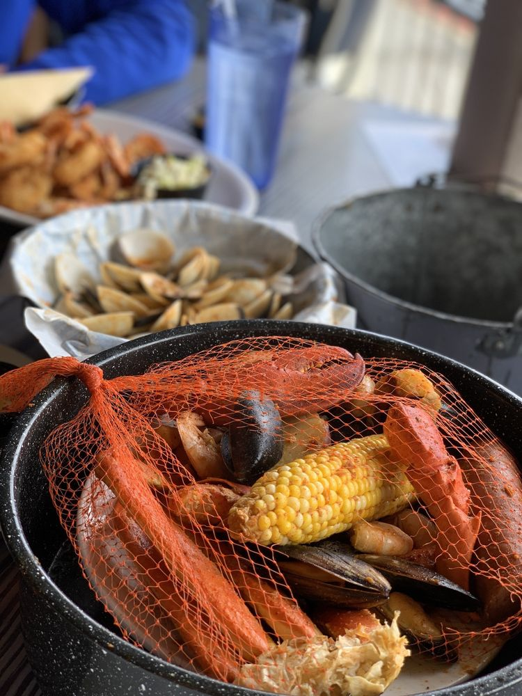 Food from Joe's Crab Shack