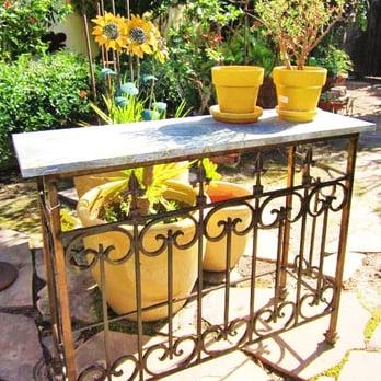 Wrought iron bar, sofa table. garden party, serving table ...