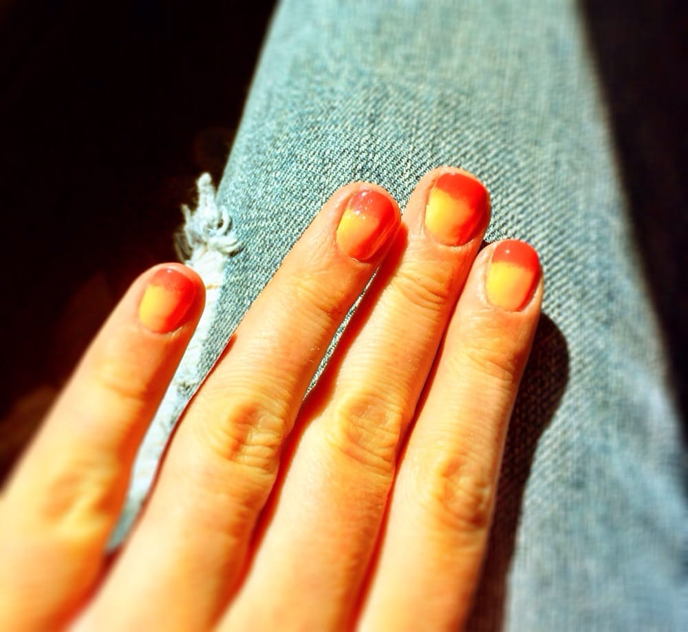 Fun summer nails today! This place is always willing to try ...