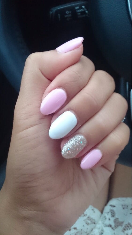 Pink white and gold nails yelp photo of vartani nail design glendale ca united states pink white and prinsesfo Choice Image