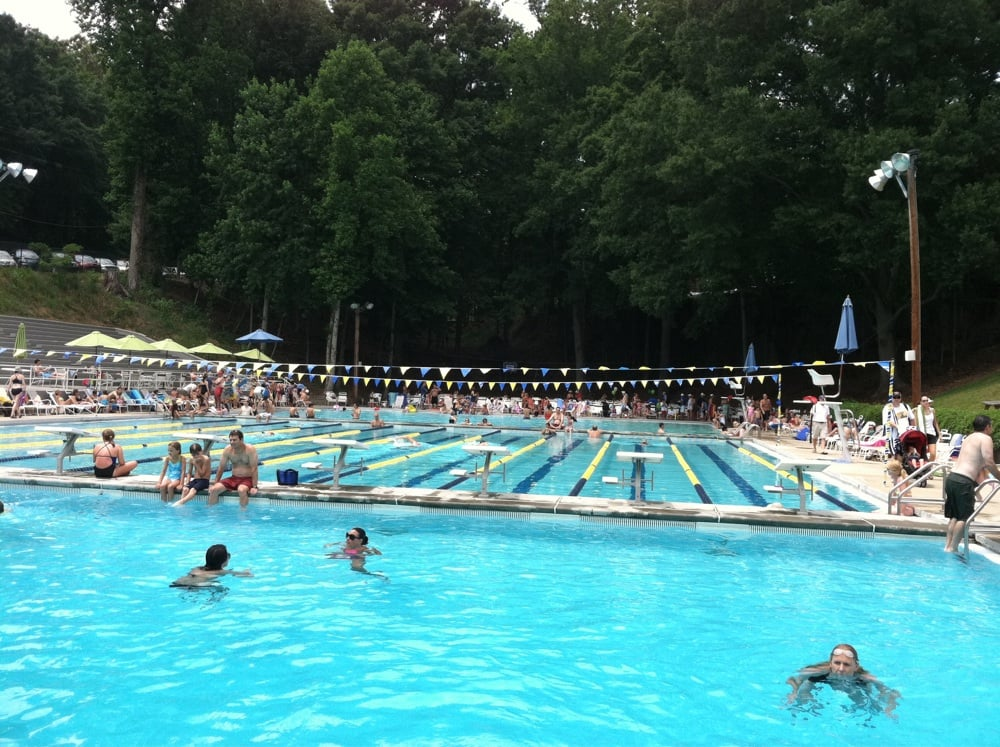 View Of Deep Water Pool With Diving Board Not Visible And Lap Pool Shallow Water Pool In