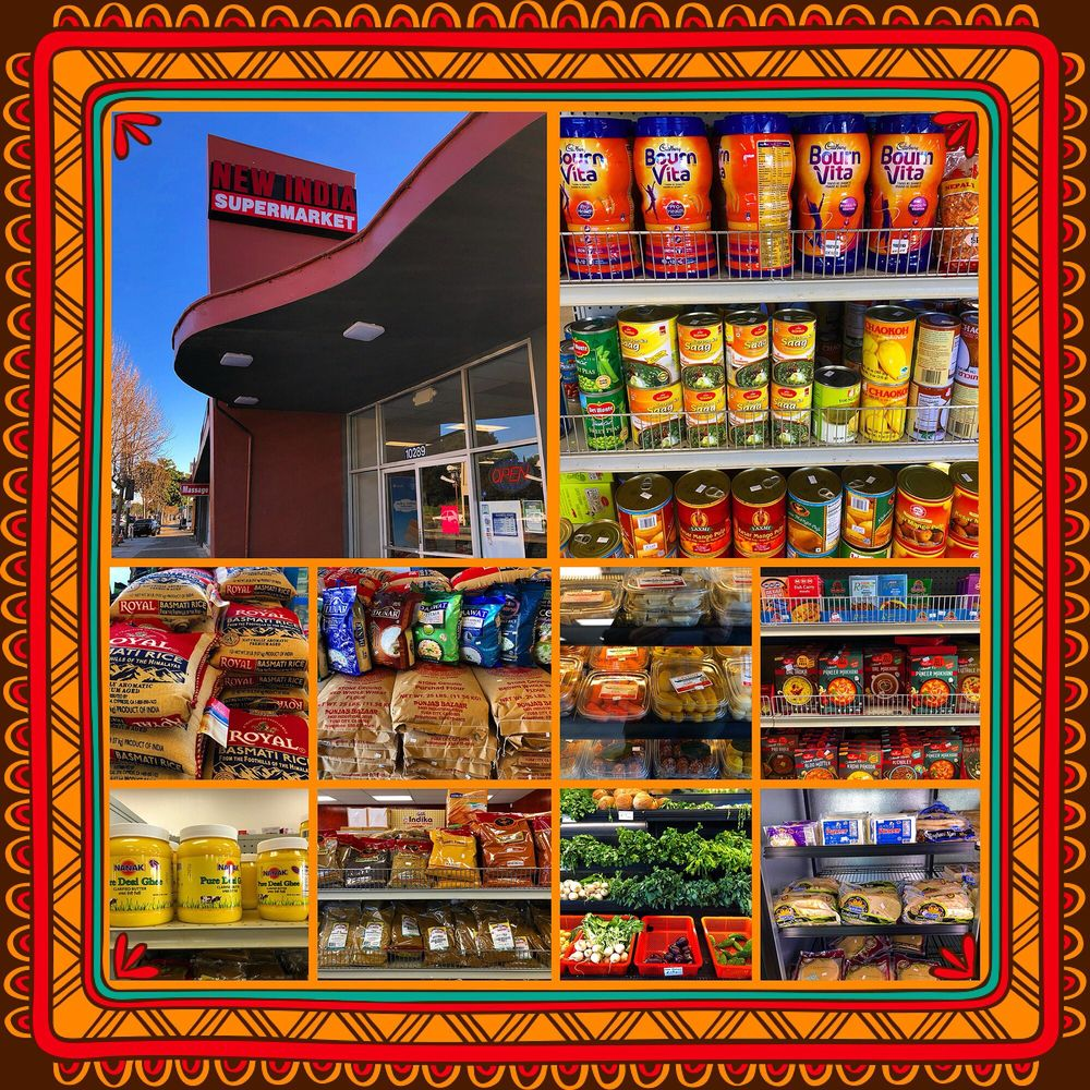 New India Supermarket: 10289 San Pablo Ave, El Cerrito, CA