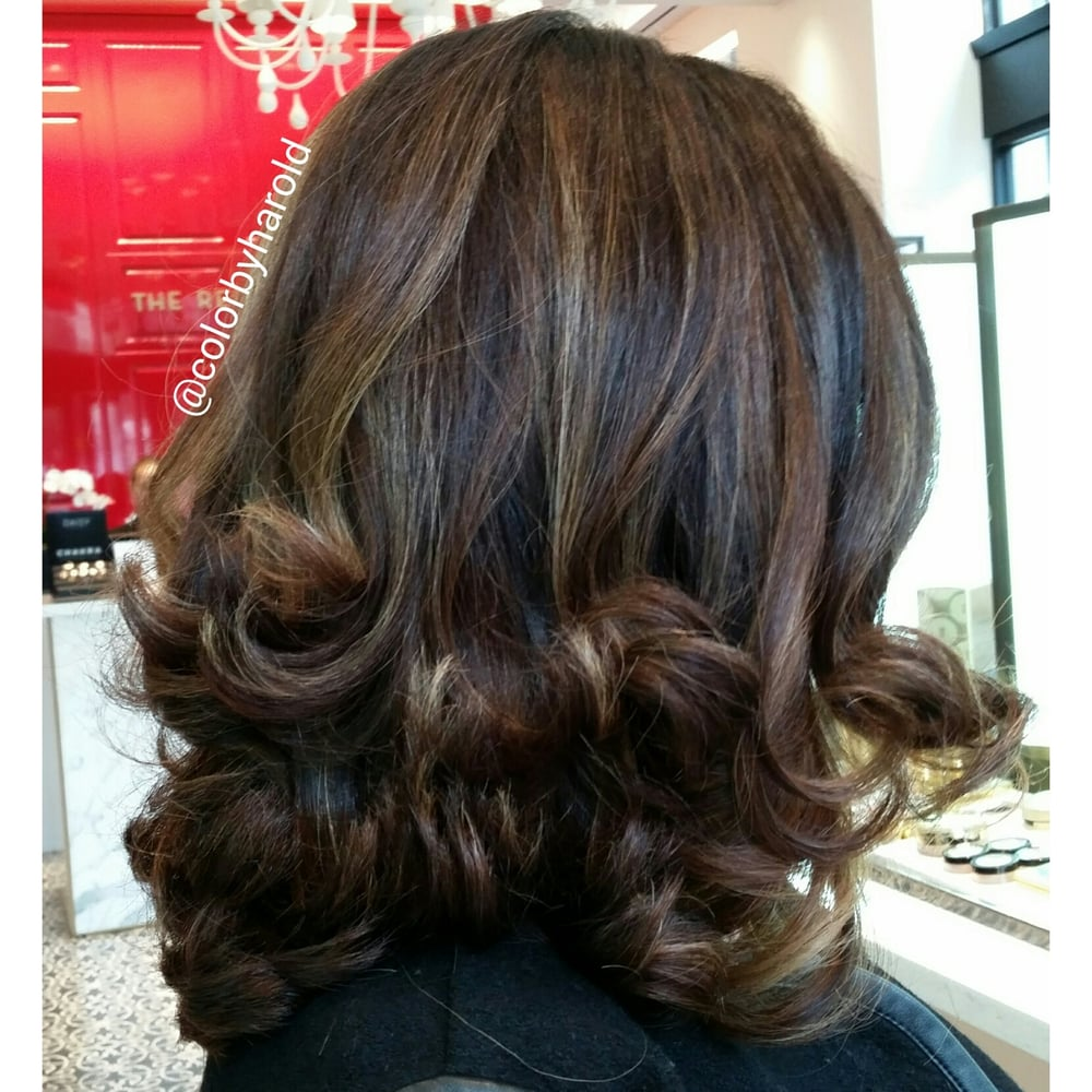 Sombre Highlights On Dark Brown Hair By Color Specialist Harold Egan