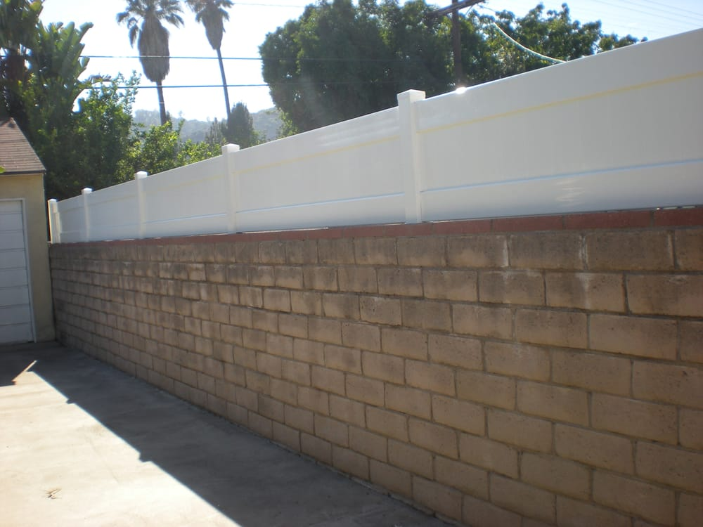 2 Ft Vinyl Fence Extension Over My 5 Ft Block Wall Yelp