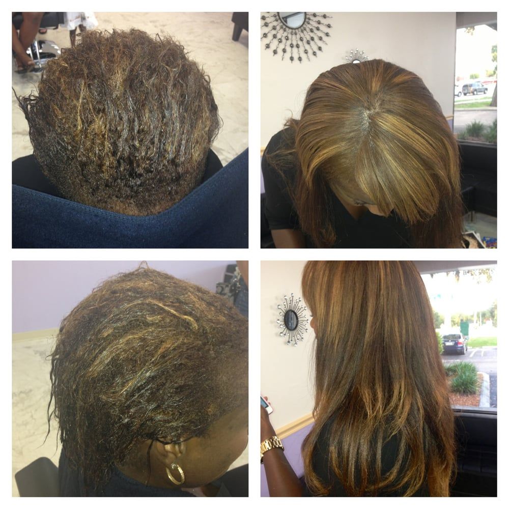 Keratin treatment to natural hair plus hair extension  Yelp
