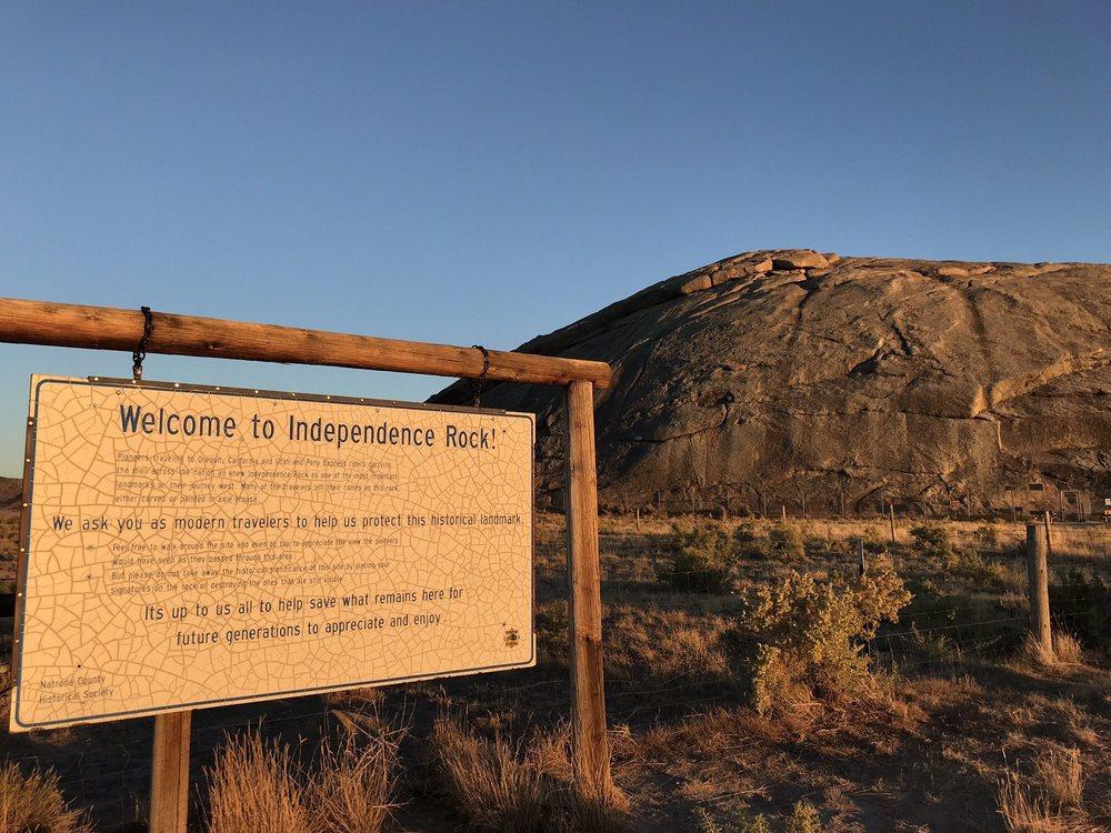 Independence Rock Rest Stop & Historic Site: Highway 220, Casper, WY