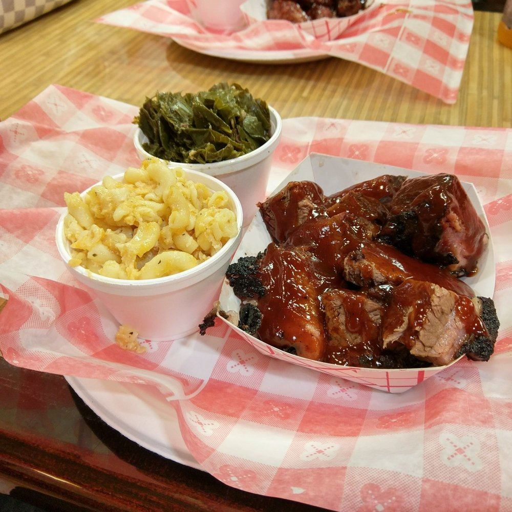 Food from Ricky D's Rib Shack