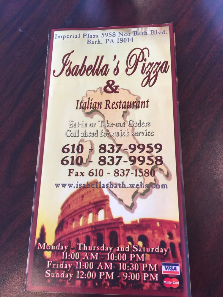 Isabella's Pizza: 5958 Nor Bath Blvd, Bath, PA