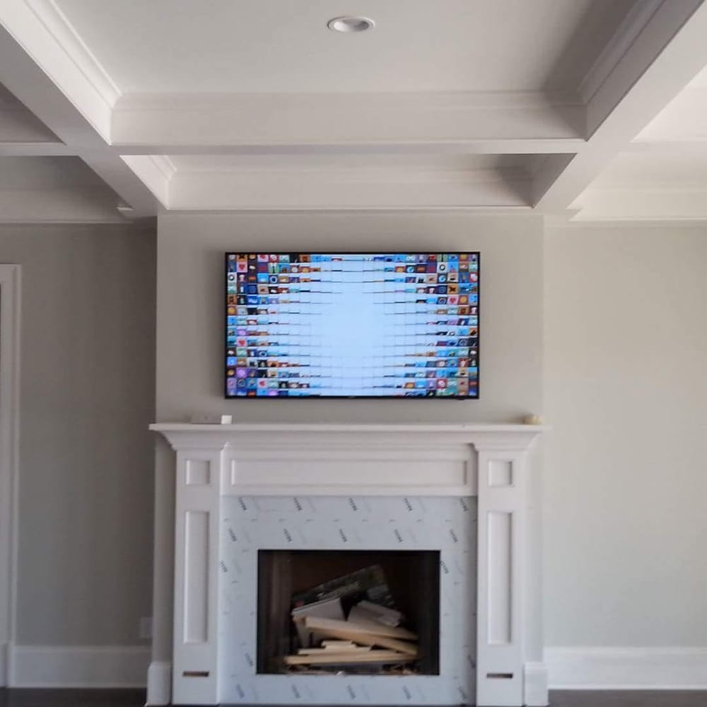 70 inch samsung suhd smart tv over fireplace yelp rh yelp com 70 inch tv above fireplace