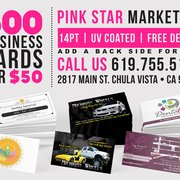 Pink star marketing 81 photos 22 reviews graphic design photo of pink star marketing chula vista ca united states business cards reheart