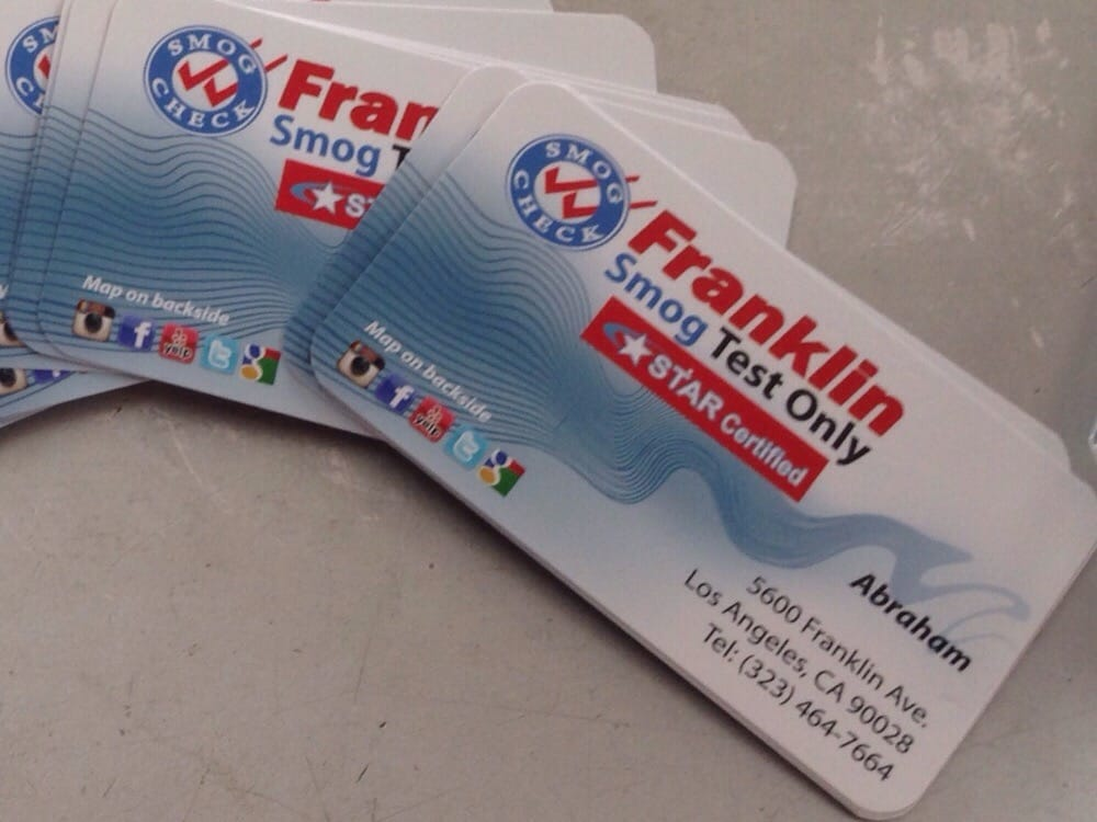 Business cards yelp photo of franklin smog check test only star certified los angeles ca reheart Images