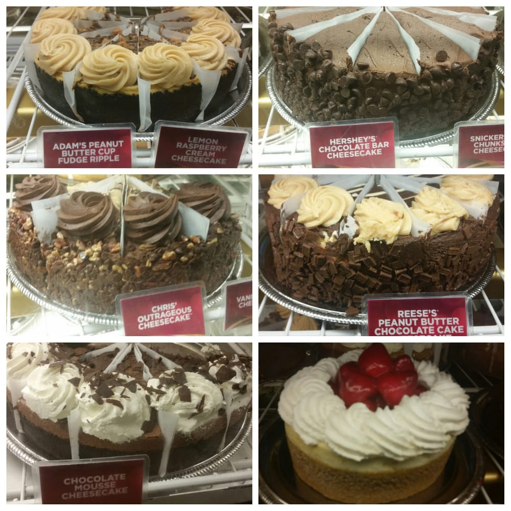Some of the many cheesecakes of the cheesecake factory at