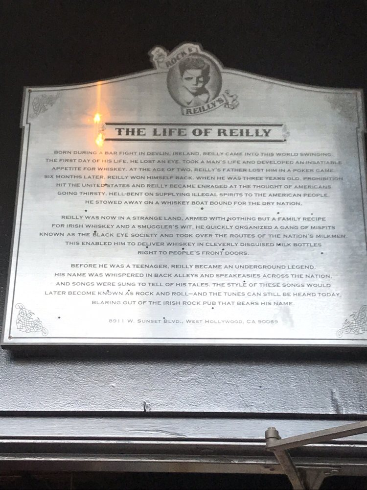 Rock & Reilly's Irish Pub - 8911 W Sunset Blvd, West
