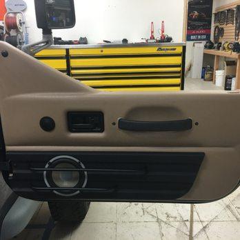 Custom Door Panel Build In A Jeep Wrangler Yelp