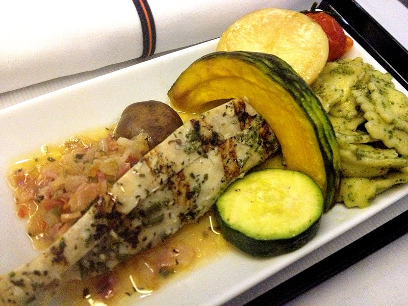Miscellaneous Food Business Class Singapore Usa Ana